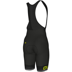 Alé Cycling Corsa Bib Shorts Heren, black-fluo yellow